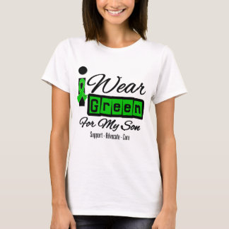 I Wear Green Ribbon (Retro) - Son T-Shirt