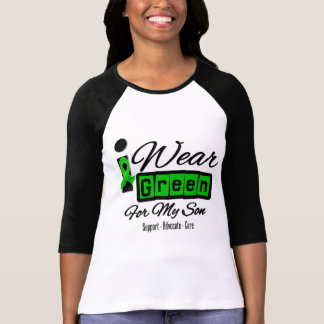 I Wear Green Ribbon (Retro) - Son T Shirt
