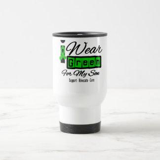 I Wear Green Ribbon (Retro) - Son Travel Mug