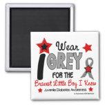 I Wear Grey 12 Bravest Little Boy Juv Diabetes