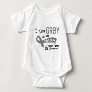 I Wear Grey 42 Nana Brain Tumor Baby Bodysuit