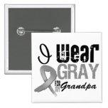I Wear Grey Awareness Ribbon For My Grandpa