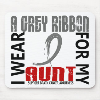I Wear Grey For My Aunt 46 Brain Cancer Mousepads