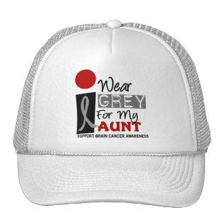 I Wear Grey For My Aunt 9 BRAIN CANCER T-Shirts Trucker Hat