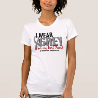 I Wear Grey For My Best Friend 10 Diabetes T-Shirt