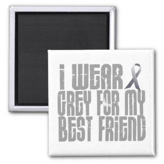 I Wear Grey For My BEST FRIEND 16 Fridge Magnets