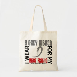I Wear Grey For My Best Friend 46 Brain Cancer Bag