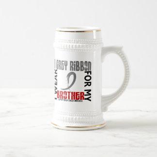 I Wear Grey For My Brother 46 Brain Cancer Coffee Mug