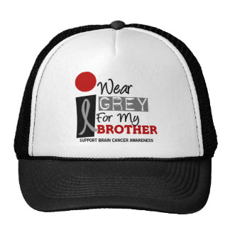 I Wear Grey For My Brother 9 BRAIN CANCER T-Shirts Trucker Hat
