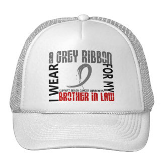 I Wear Grey For My Brother-In-Law 46 Brain Cancer Hats
