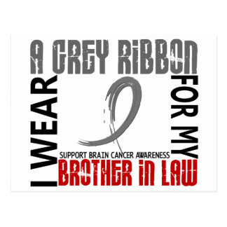 I Wear Grey For My Brother-In-Law 46 Brain Cancer Postcard