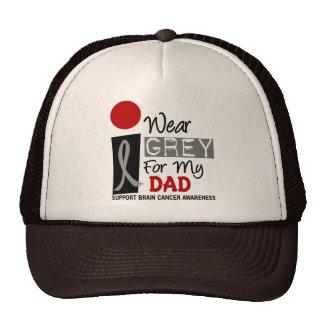I Wear Grey For My Dad 9 BRAIN CANCER Trucker Hat