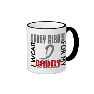 I Wear Grey For My Daddy 46 Brain Cancer Coffee Mugs