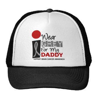 I Wear Grey For My Daddy 9 BRAIN CANCER Hats