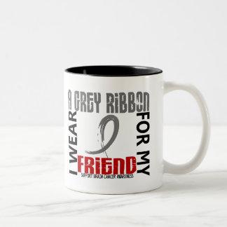 I Wear Grey For My Friend 46 Brain Cancer Coffee Mugs