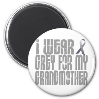 I Wear Grey For My GRANDMOTHER 16 Magnet