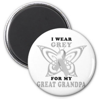 I Wear Grey for my Great Grandpa 6 Cm Round Magnet