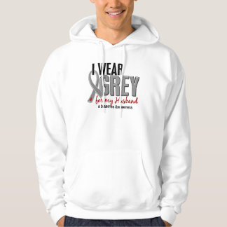 I Wear Grey For My Husband 10 Diabetes Hoodie