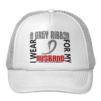 I Wear Grey For My Husband 46 Brain Cancer Trucker Hat