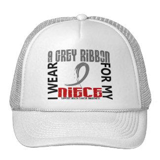 I Wear Grey For My Niece 46 Brain Cancer Hats
