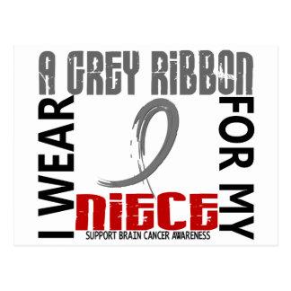 I Wear Grey For My Niece 46 Brain Cancer Postcard