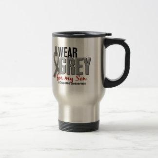 I Wear Grey For My Son 10 Diabetes Travel Mug