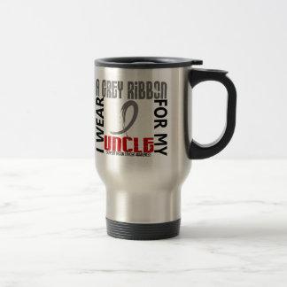 I Wear Grey For My Uncle 46 Brain Cancer Coffee Mug