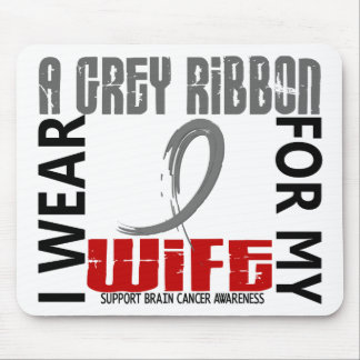 I Wear Grey For My Wife 46 Brain Cancer Mouse Pad