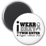 I Wear Grey Ribbon For My Twin Sister Fridge Magnet
