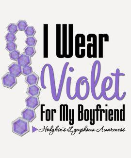 I Wear Hodgkins Lymphoma Ribbon For My Boyfriend T Shirts