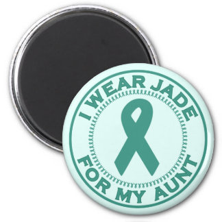 I Wear Jade For My Aunt 6 Cm Round Magnet