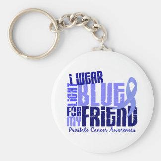 I Wear Light Blue For Friend 6.4 Prostate Cancer Key Ring