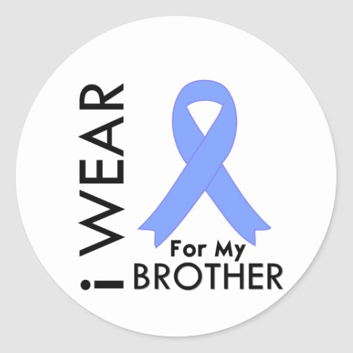 I Wear Light Blue For My Brother - Prostate Cancer Stickers