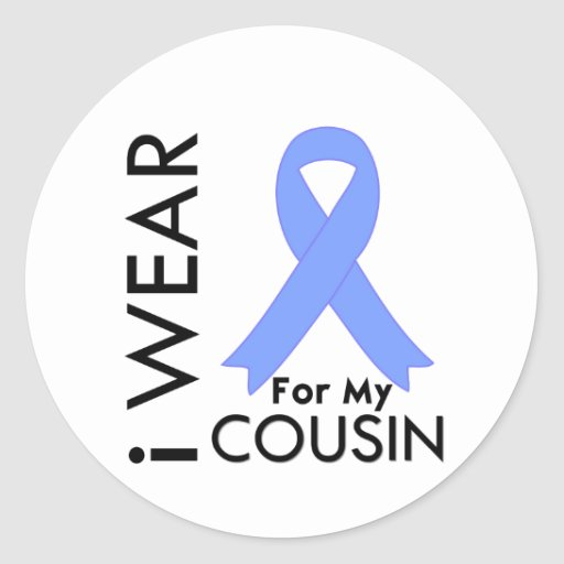 I Wear Light Blue For My Cousin - Prostate Cancer Sticker