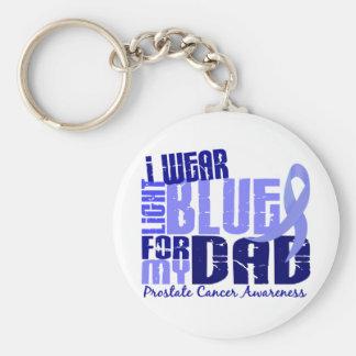 I Wear Light Blue For My Dad 6.4 Prostate Cancer Key Ring