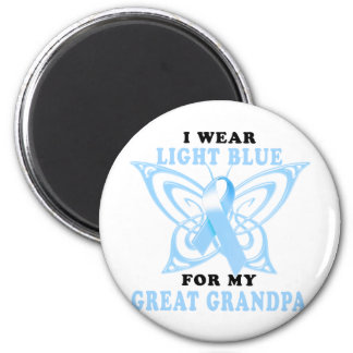 I Wear Light Blue for my Great Grandpa 6 Cm Round Magnet