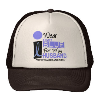 I Wear Light Blue For My Husband 9 PC Trucker Hat