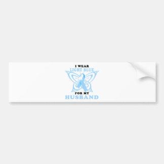 I Wear Light Blue for my Husband Bumper Sticker