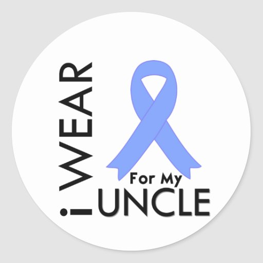 I Wear Light Blue For My Uncle - Prostate Cancer Sticker