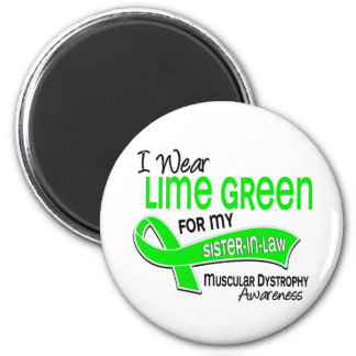 I Wear Lime 42 Sister-In-Law Muscular Dystrophy 6 Cm Round Magnet