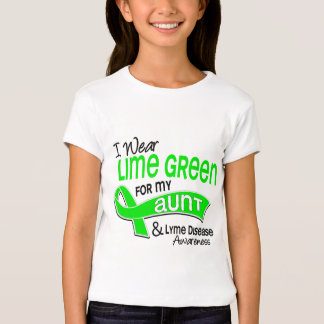 I Wear Lime Green 42 Aunt Lyme Disease T Shirts