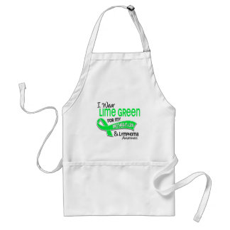 I Wear Lime Green 42 Brother-In-Law Lymphoma Aprons