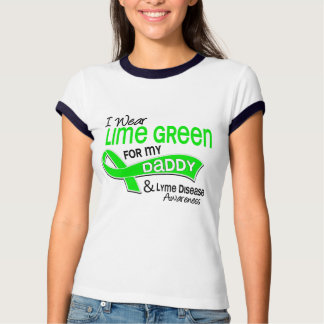 I Wear Lime Green 42 Daddy Lyme Disease Tee Shirts