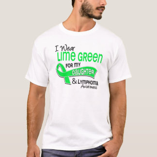 I Wear Lime Green 42 Daughter Lymphoma T-Shirt
