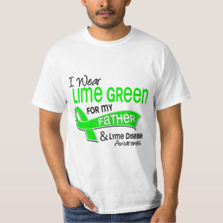 I Wear Lime Green 42 Father Lyme Disease Shirts