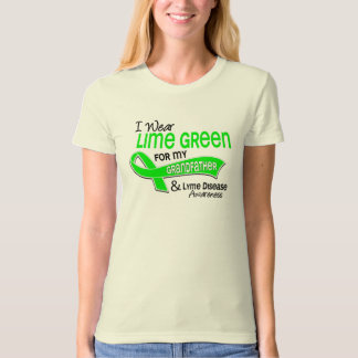 I Wear Lime Green 42 Grandfather Lyme Disease T Shirts