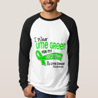 I Wear Lime Green 42 Grandmother Lyme Disease Tee Shirts