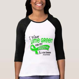 I Wear Lime Green 42 Grandmother Lyme Disease Tshirts