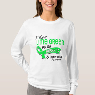 I Wear Lime Green 42 Husband Lymphoma T-Shirt