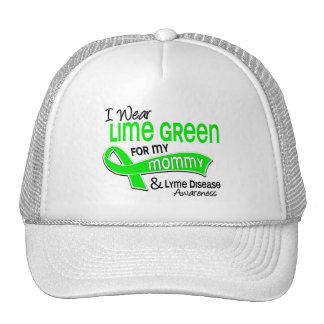 I Wear Lime Green 42 Mommy Lyme Disease Trucker Hats